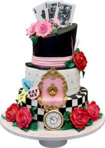 Las Vegas Custom Cakes - Custom Flower Card Cake
